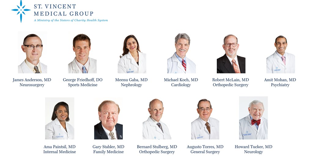 ST  VINCENT MEDICAL GROUP EXPANDS WITH 12 NEW PHYSICIANS