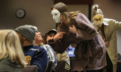 Cleveland Improbable Players offer reality of addiction and recovery in dramatization at St. Vincent Charity Medical Center